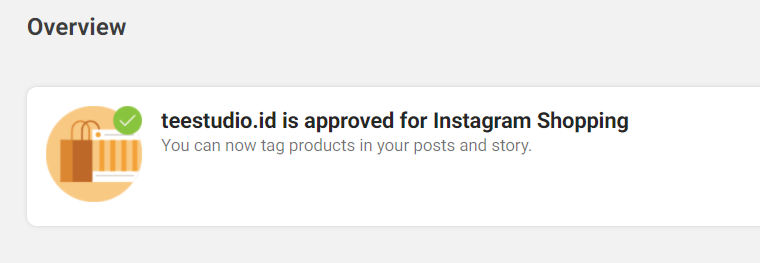 Instagram Shopping approved